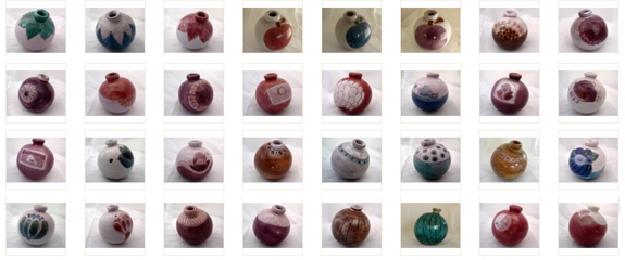 Vase boule de Jean et Robert Cloutier